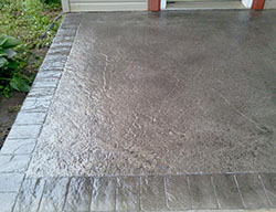 concrete stamped patio
