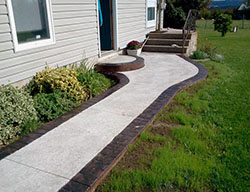 Hortons Concrete stain bordered walkway