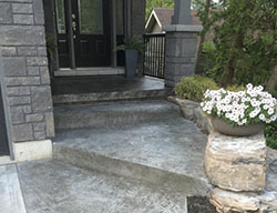 Hortons Concrete stamped hone stair entrance
