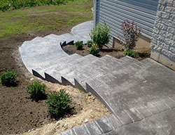 concrete stamped stairway