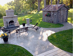Hortons Concrete stamped patio and walkway
