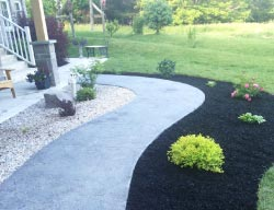 Hortons Concrete stamped walkway