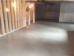 House foundation concrete floor