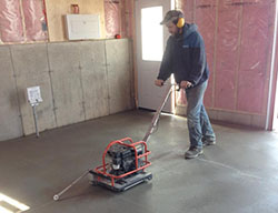 residential foundation concrete floor