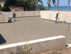 foundation concrete floor
