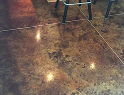 high gloss finished basement concrete floor